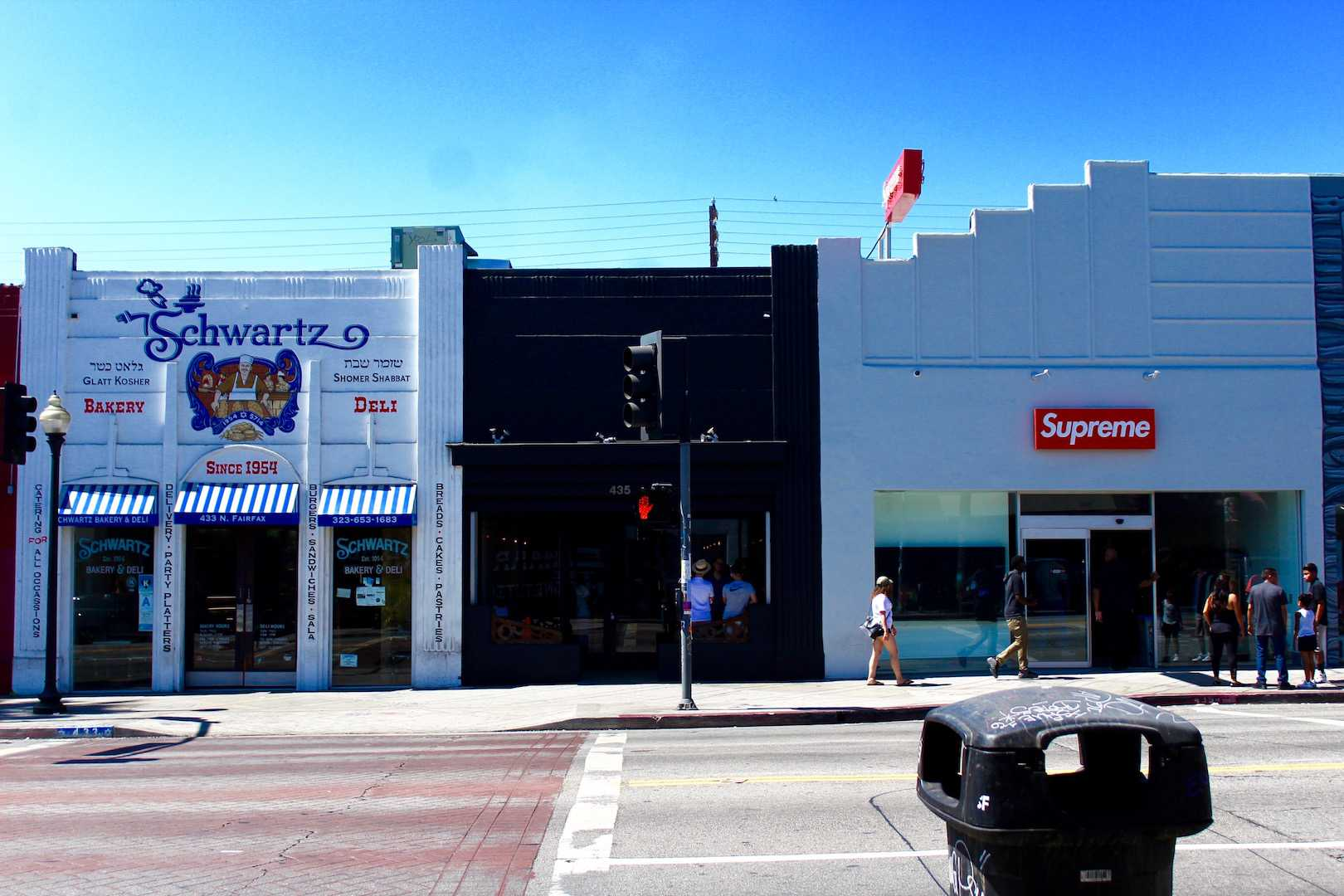 Clothing company Supreme resides next to historic Schwartz's Deli. Photo by Avalon Cole